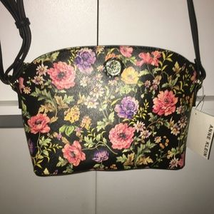NWT $68 Anne Klein Floral Shoulder Bag